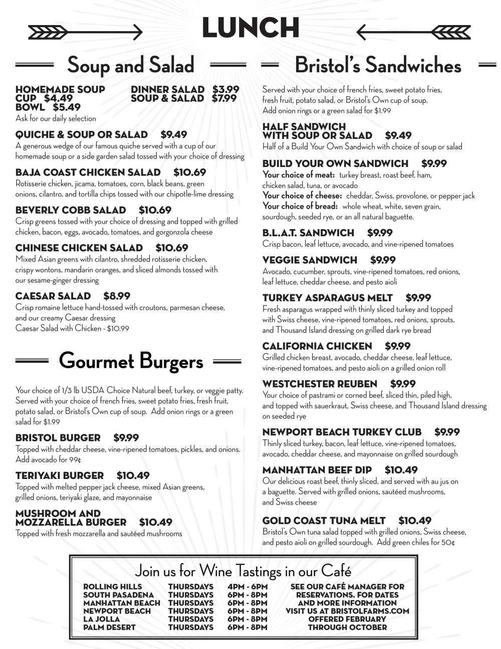 Mexican Cafe Lunch Menu